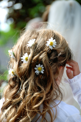 This is one of my favorite flower girl tiara hairstyles.