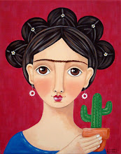 Frida with Cactus