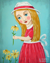Girl holding a Flower