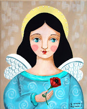 Angel Holding a red flower