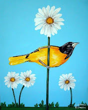 Baltimore Oriole with Daisies