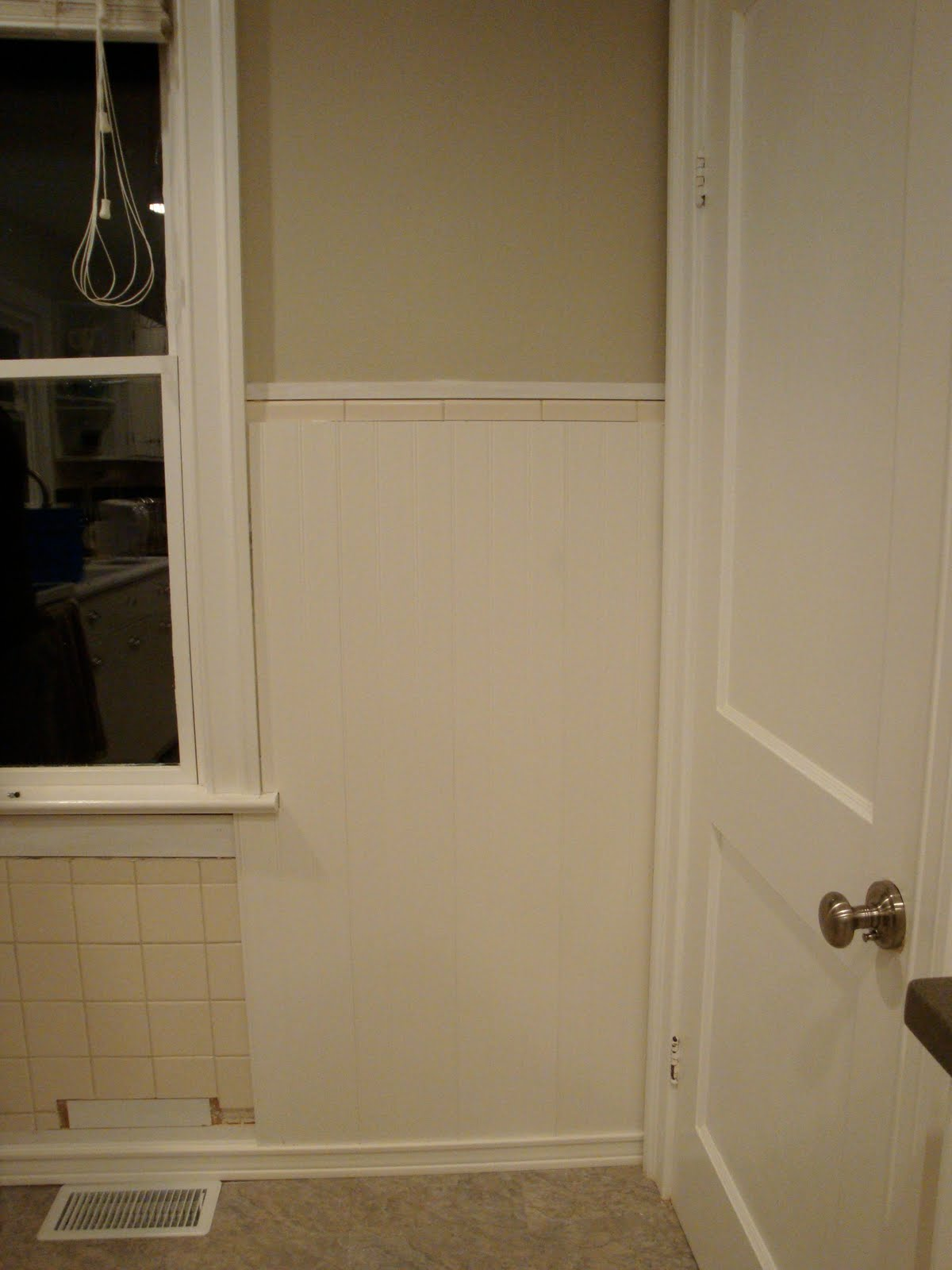 Wainscoting Kitchen Backsplash Remodelaholic Kitchen Backsplash Tiles Now Beadboard