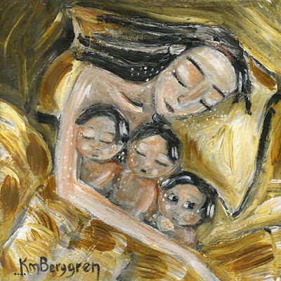 Seven Available 10×10 Paintings – Tomorrow brings #34 in the Collection: Gentle Mama