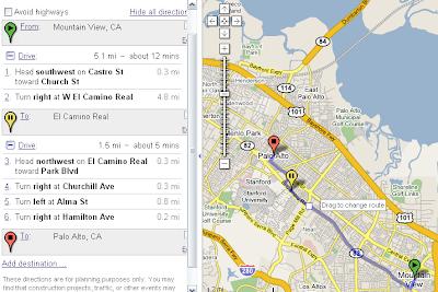 Google Maps Route(行车路线)