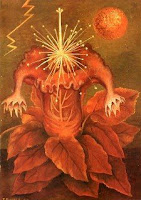 Image of Frida Kahlo's painting, Flower of Life