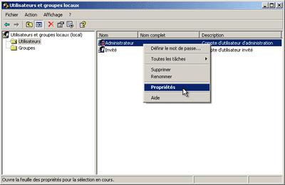 comment devenir admin sur windows xp