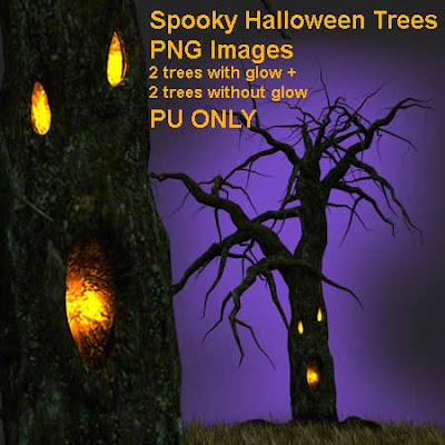 free spooky trees preview Free Spooky Halloween Trees PNG Images