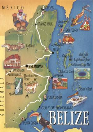 Taking Belize Maps of Belize