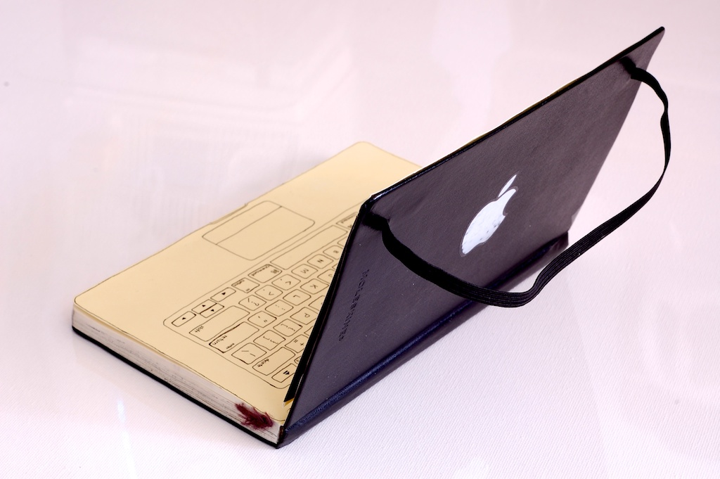 moleskine turned macbook