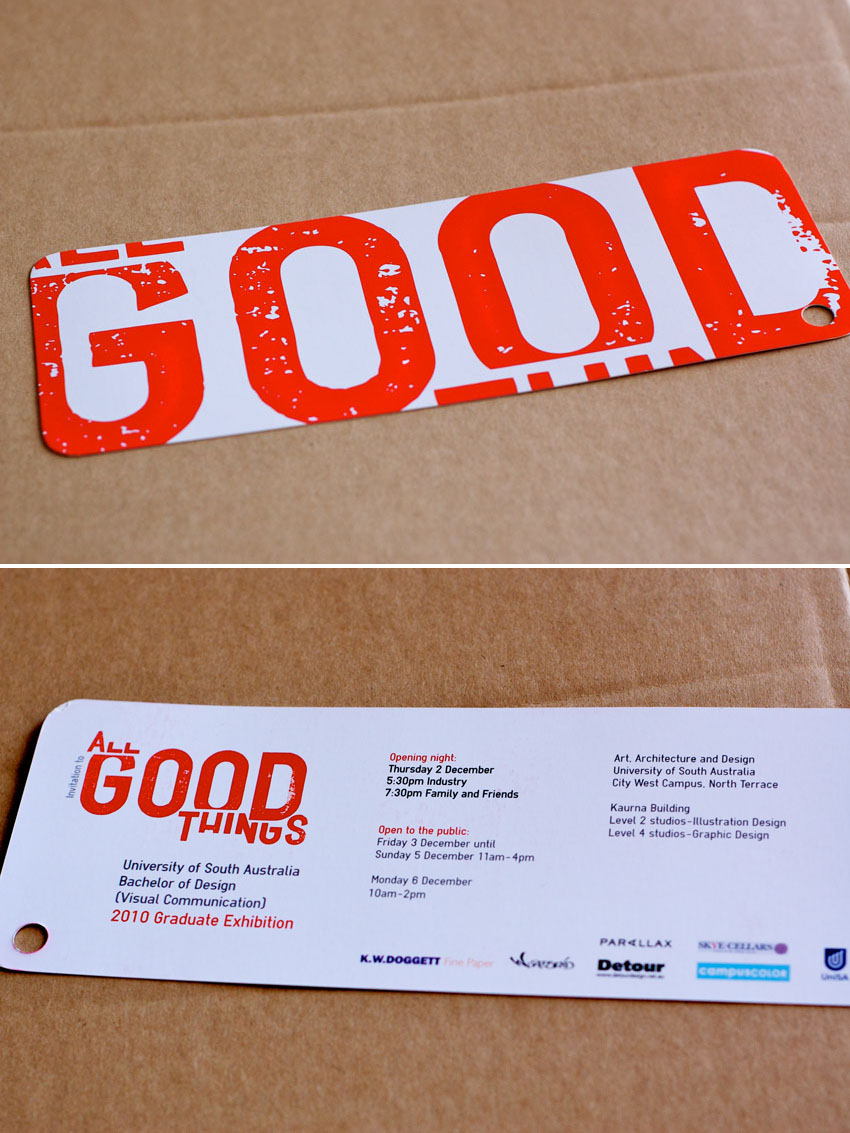 all good things exhibition invitation