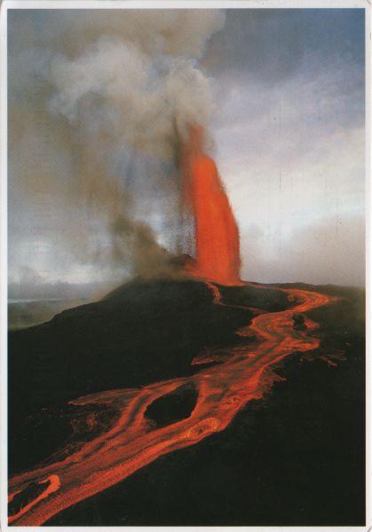 Postcard of Kilauea Volcano, in Hawaii Volcanoes national Park