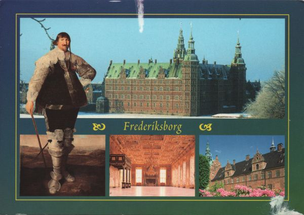 multiview postcard of Frederiksborg Castle
