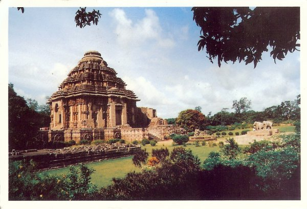 sun temple carved seen from a distance