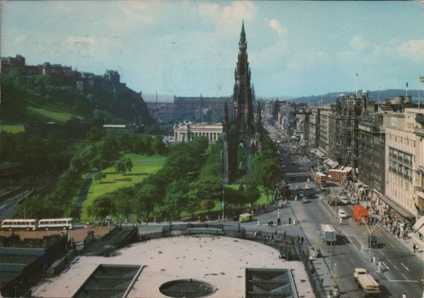 view of Princes Street and the Castle