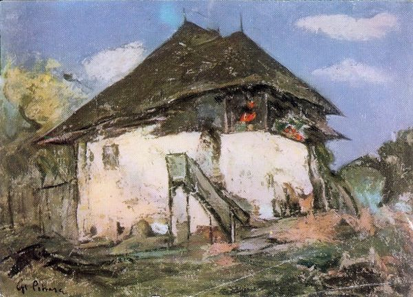 picture of a Romanian house by artist