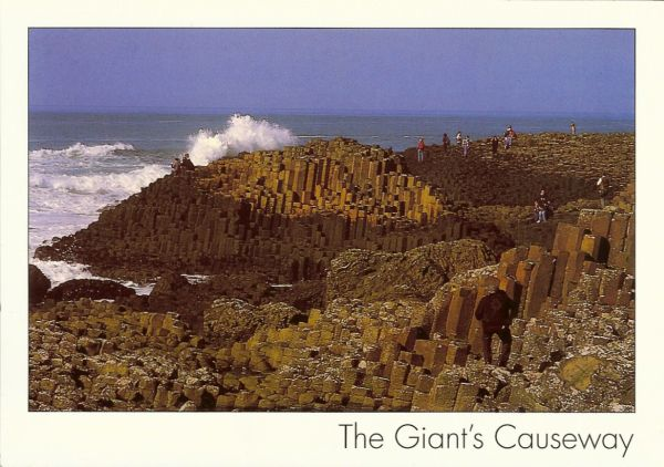 view of the giant's causeway and sea