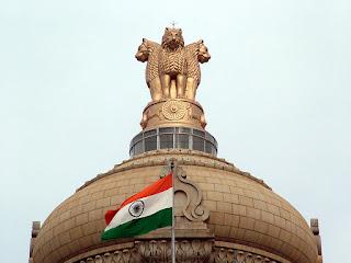 Indian Flag in Vidhaana Soudha, Bangalore