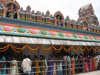People wait in queue for the darshana of Shree Mahalakshmi
