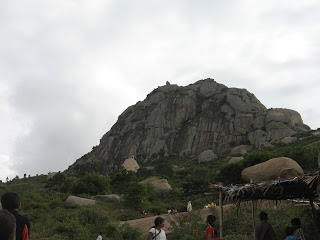 Shivagange hill peak near Bangalore