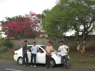 Trip Gang posing with Ford Fiesta
