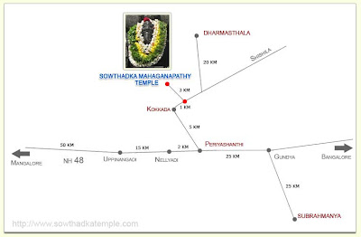 Route map to Sowthadka Temple