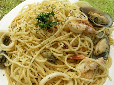 Aglio e Olio is basically garlic and oil in Italian. I personally ...