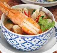 Spicy soup with prawn and lemon grass