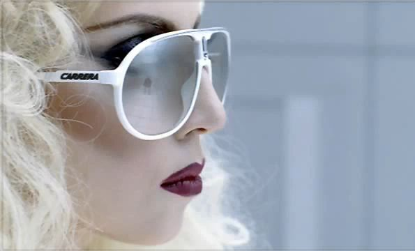 Lady Gaga Glasses. Lady Gaga with the Carrera