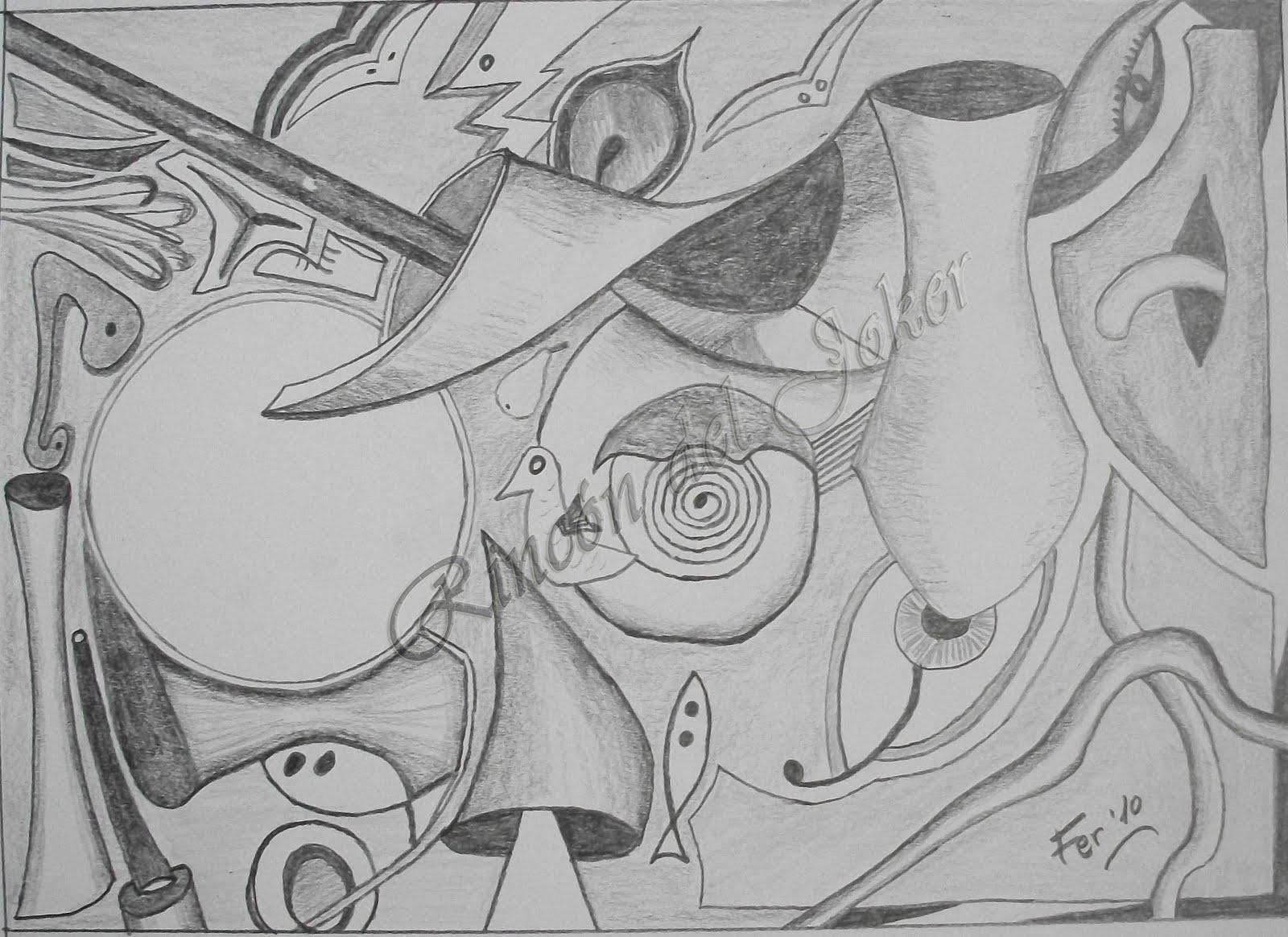 Realizado en papel de dibujo de 21x15 cm