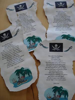 katis kreative ecke: piratengeburtstag -einladungen, Einladung