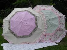 Shabby garden umbrellas..