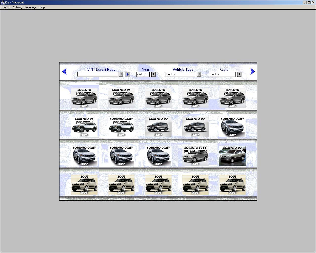 Autoparts catalogs kia all markets microcat for Kia motors parts catalog