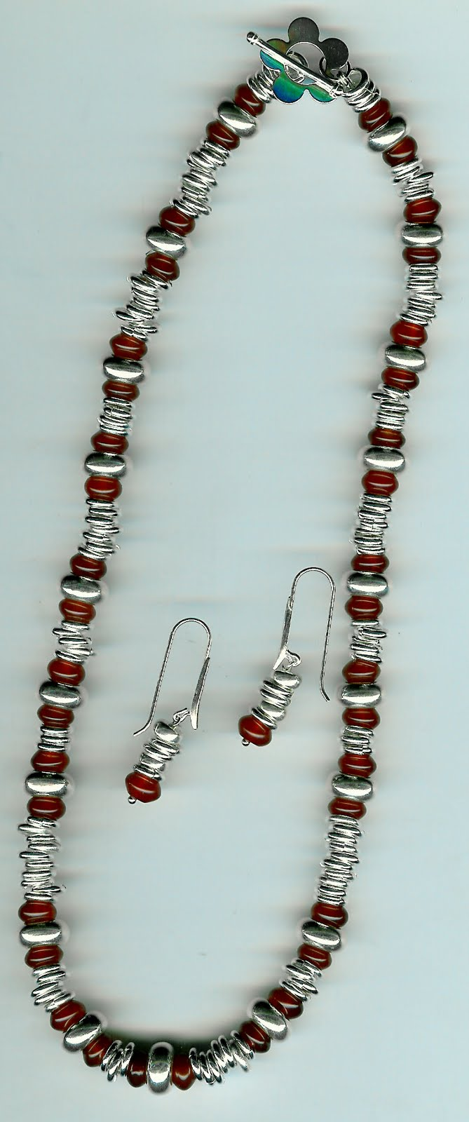 167. Carnelian with Sterling Silver + Earrings