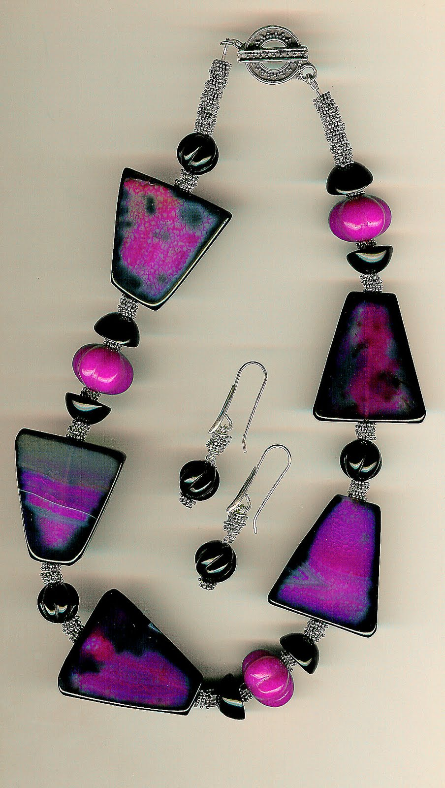 173. Agate, onyx, Jade with Bali Sterling Silver + Earrings