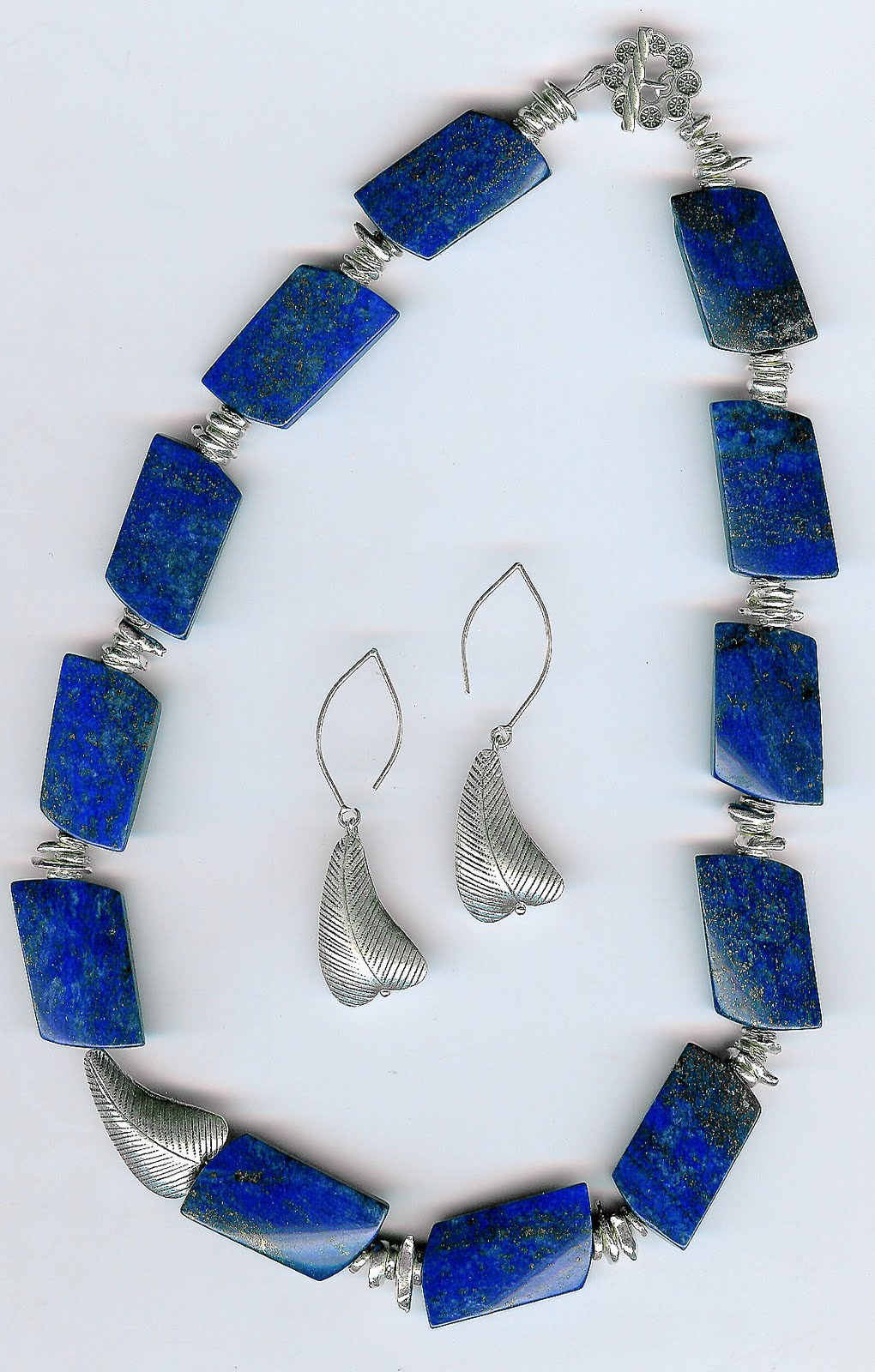 183. Lapis Lazuli with Karen Hill Thai Sterling Silver + Earrings