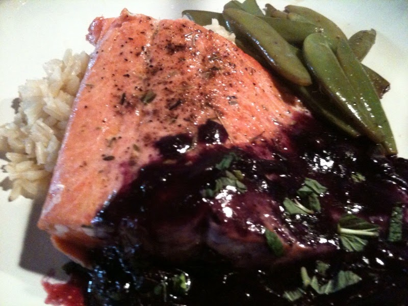 Bull City Food: Salmon with Blueberry Sauce