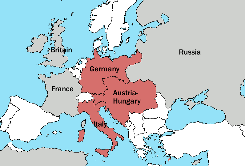 world war 1 map europe 1914. of World War I in 1914 .