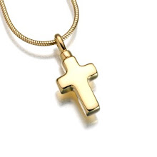 Gold Vermeil Polished Cross keepsake