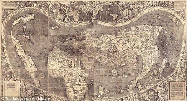 severna amerika karta. Valdsimulerova karta sveta