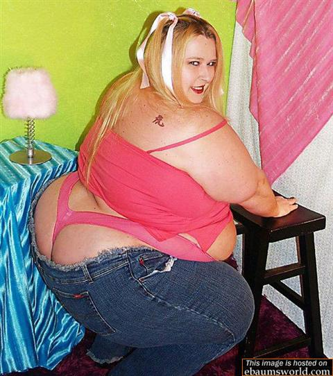fat girl in a thong
