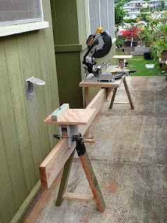 portable chop saw table. a jobsite miter saw table is usually made with the mounted to extreme right end of table. i have found that most manufacturers make portable chop