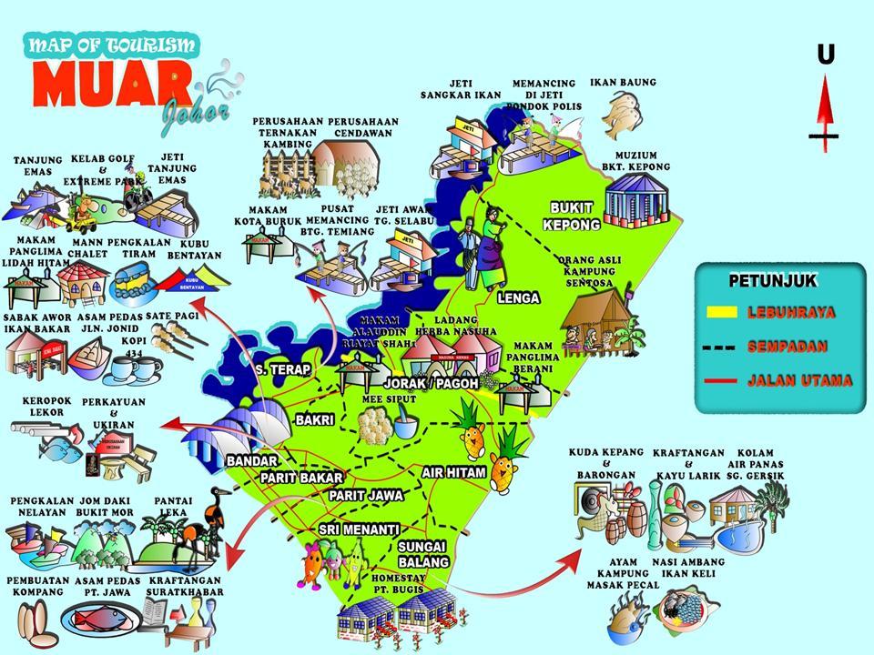 Muar Malaysia  city images : KEJOHANAN ANTARA TEKNIK JOHOR 2010: Peta Muar