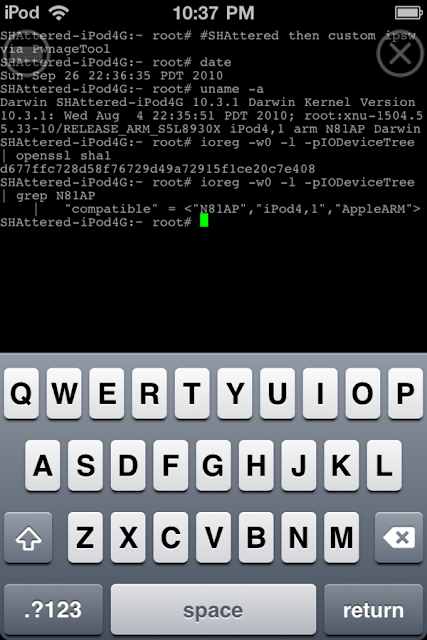Jailbreak iPod Touch 4G with SHAtter Exploit [Video]