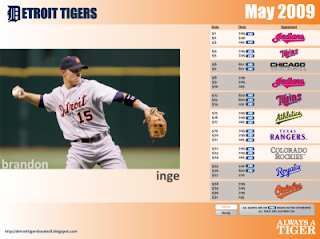 Monthly Tiger Schedule Wallpaper May2009-400x300