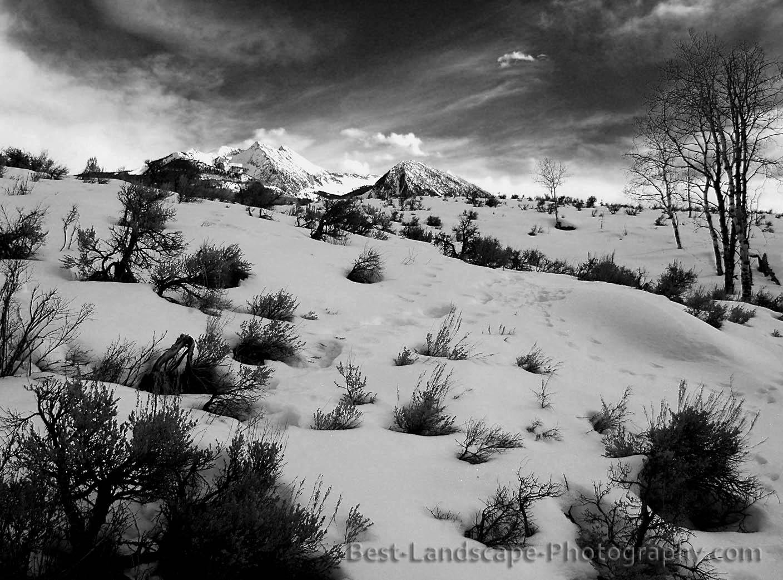 Colorado winter landscape
