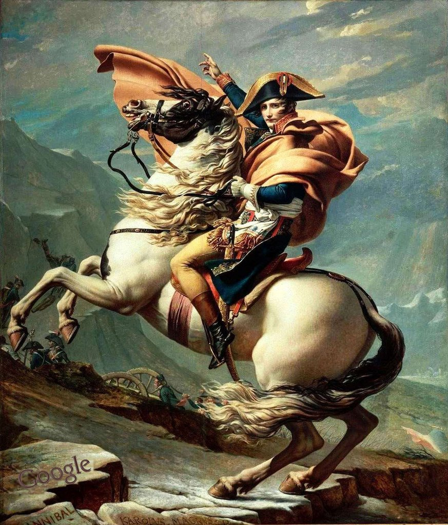 Napoleon Bonaparte, the former French emperor and arch-foe of Great