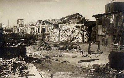 Estragos producidos por la gran explosión