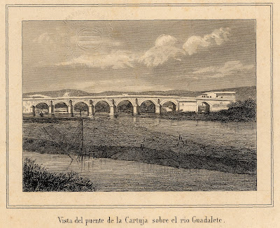 grabado del Puente de Cartuja