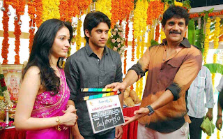 Naga Chaitanya and Tamannah in Production no-31 movie launch