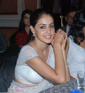 Genelia spicy in White Saree at CNBC Awards-Gallery - Tamil Hot News